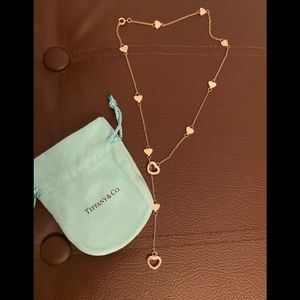 Tiffany and co heart Y necklace adjustable wear